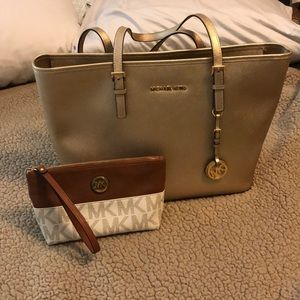 Michael Kors shoulder bag and wristlet